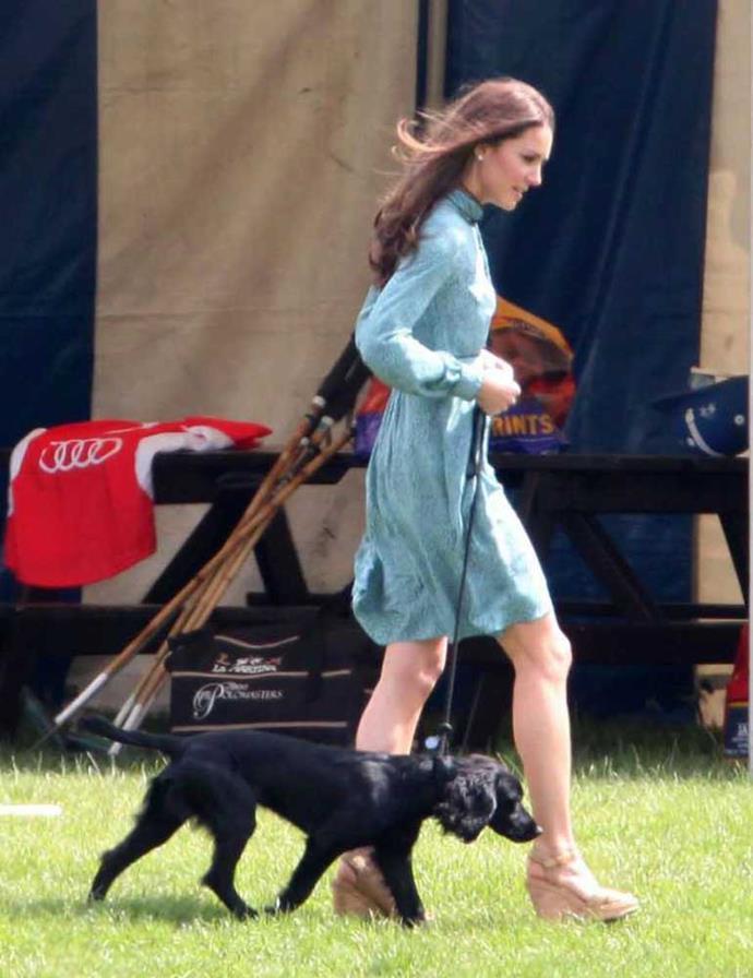 Kate Middleton with Lupo the Cocker Spaniel.