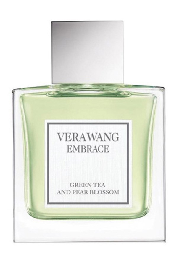 """<a href=""""http://www.chemistwarehouse.com.au/buy/76189/Vera-Wang-Embrace-Green-Tea-and-Pear-Blossom-30ml-Eau-De-Toilette"""">Embrace in Green Tea and Pear Blossom by Vera Wang </a><br><br> Notes of peony, orange blossom and sandalwood compliment the green tea and pear blossom for a fresh, floral fragrance that will give you an air of soft sophistication."""