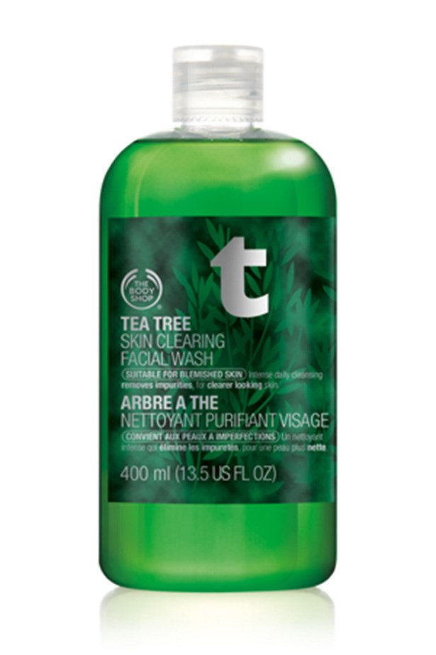<strong>For an everyday, blemish fighting skin fix</strong> <br><br>Tea Tree Skin Clearing Facial Wash, $22.95, The Body Shop, thebodyshop.com.au
