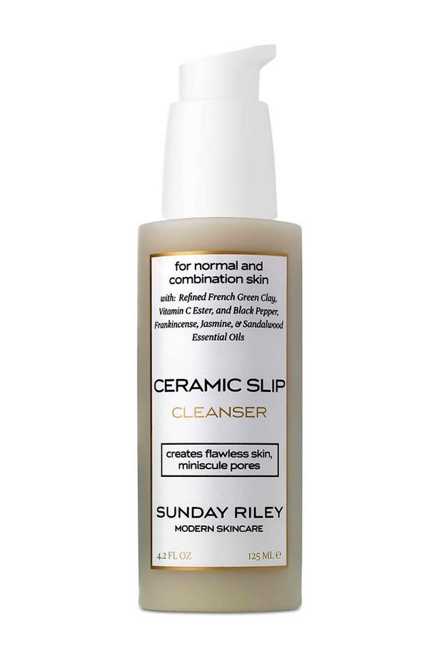 <strong>For a masque and cleanser, grime-fighting duo</strong> <br><br>Ceramic Slip Cleanser, $62, Sunday Riley, mecca.com.au