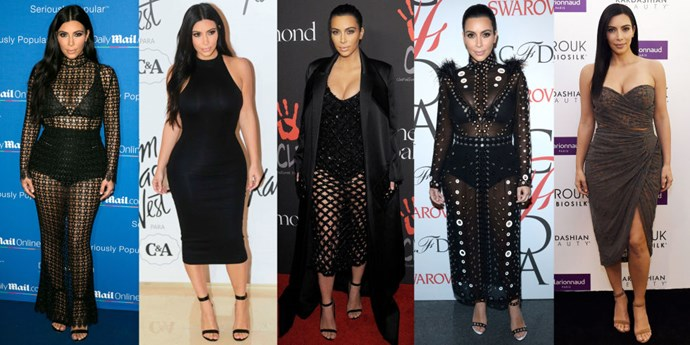 <strong>KIM KARDASHIAN</strong> <BR> The least contrived of the pack, The Kim requires simply standing with hands by sides, and one foot placed slightly in front of the other, or an ever-so-subtle pigeon toed stance.