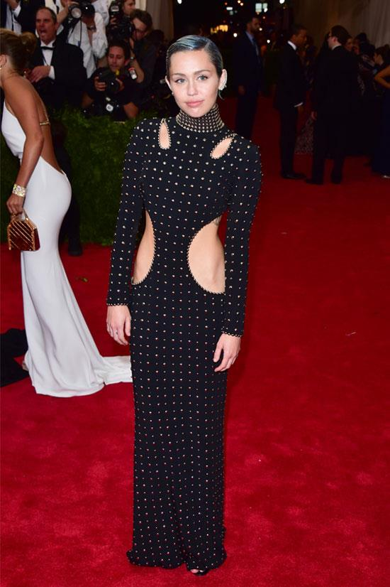 Miley Cyrus at the Met Gala, May 2015.