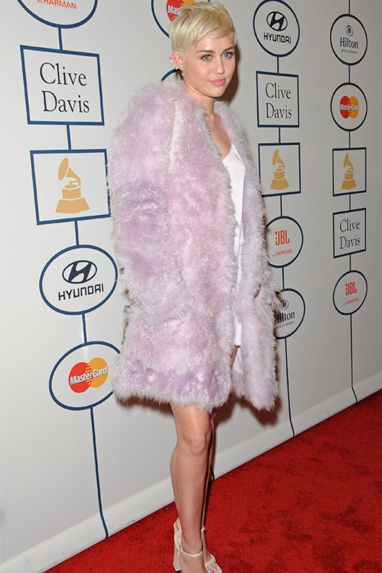 Miley Cyrus at the Annual Pre-Grammy Gala, January 2014.