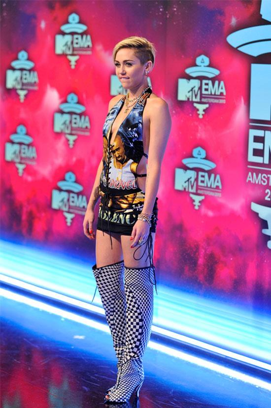 Miley Cyrus at the MTV Europe Music Awards, November 2013.
