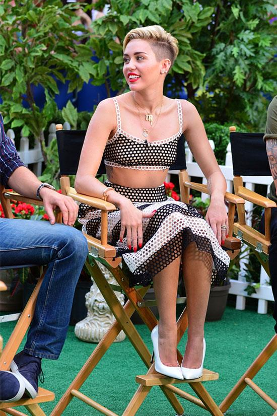 Miley Cyrus on <em>Good Morning America</em>, July 2013.