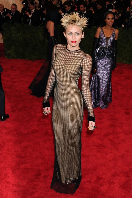 Miley Cyrus at the Met Gala, May 2013.