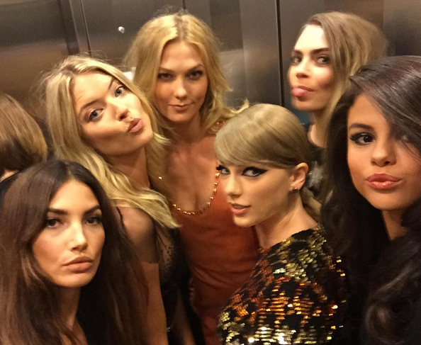 This is how Victoria's Secret angels (and Taylor Swift) do the VMA's. Image via Victoria's Secret' Instagram.