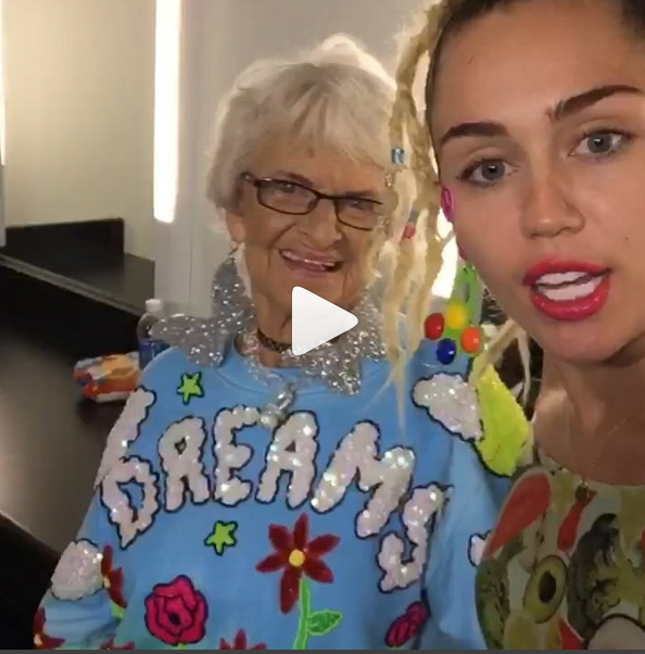 Here they are again, courtesy of Miley Cyrus.