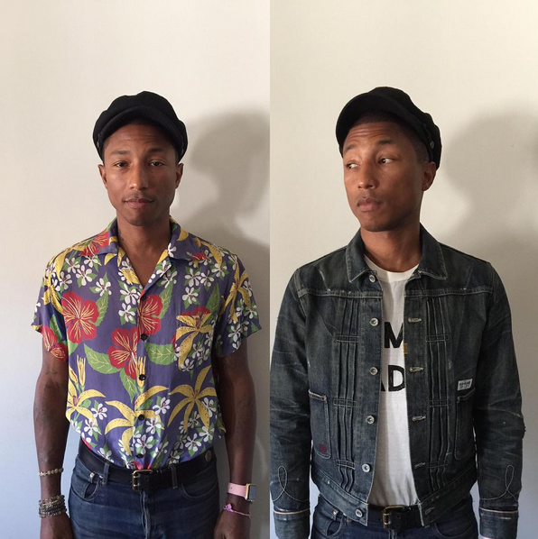 Pharrell before and after, on his way to the VMA's. Love his style.
