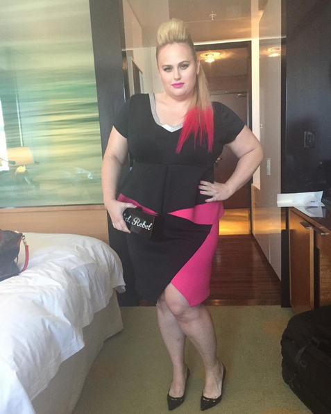 Our girl Rebel Wilson posted this gorgeous snap before heading on her way. Bonus points for the pink-tipped hair.