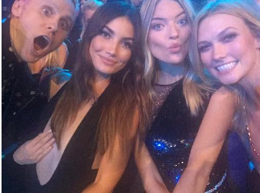 Front row selfies courtesy of Victoria's Secret on Instagram.