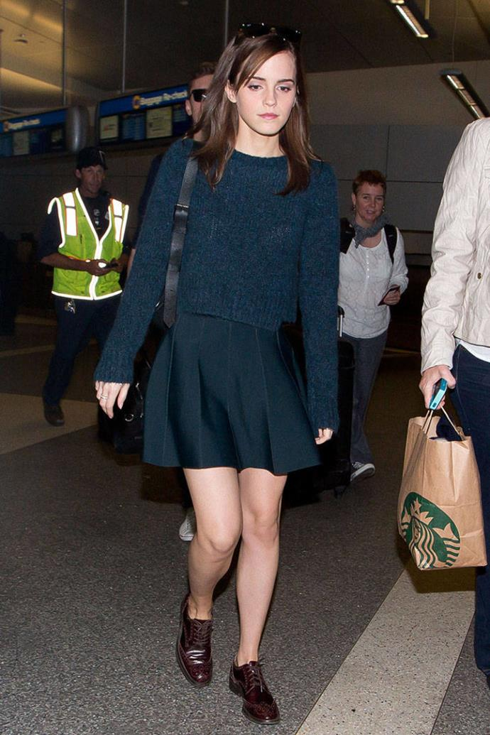 <p><strong>MARCH 18, 2014</strong></p> <p>At the airport in Los Angeles.</p>