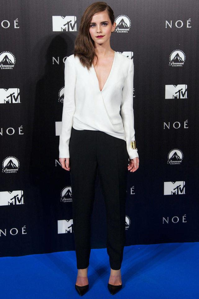 <p><strong>MARCH 17, 2014</strong></p> <p>In a J.Mendel jumpsuit and Gianvito Rossi heels at the Madrid premiere of Noah.</p>