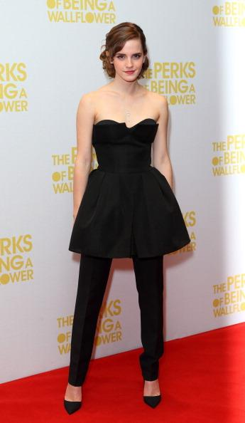 <p><strong>SEPTEMBER 26, 2012</strong></p> <p>In Dior at a screening of The Perks of Being a Wallflower in London.</p>
