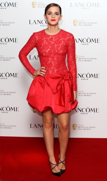 <p><strong>FEBRUARY 10, 2012</strong></p> <p>At the Lancôme pre-BAFTA party in London wearing Valentino.</p>