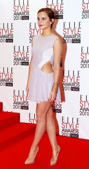 <p><strong>FEBRUARY 14, 2011</strong></p> <p>At the ELLE Style Awards in London wearing Hakaan.</p>