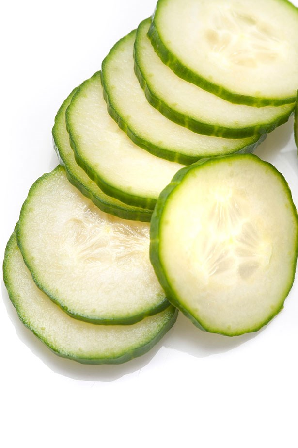 <strong>Cucumber Slices</strong> <br> <br> Not just a chick flick montage moment, cucumbers really do work. High in water, they also contain vitamin c which will go to work at soothing and calming irritation when left on the eyes for 10 minutes. If you don't have any cucumbers on hand potato slices will work in the same way to cool and calm the area while the astringent properties within can also help reduce swelling.