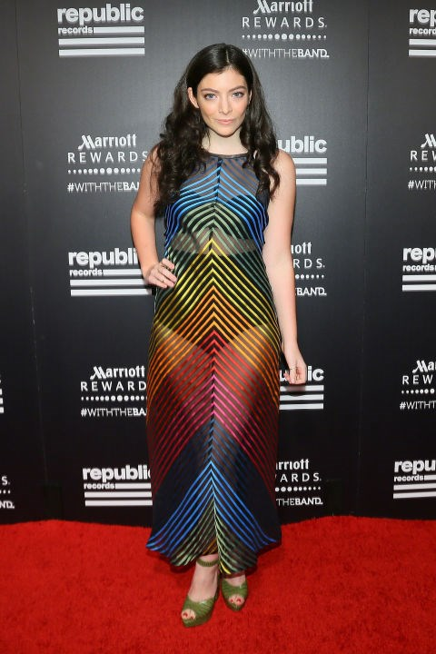 LORDE At the Republic Records 2015 VMA after party at Ysabel restaurant. GETTY