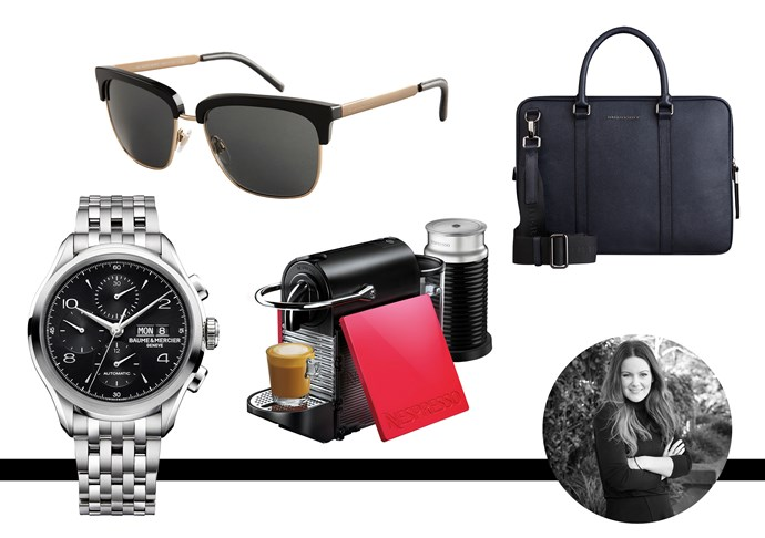 "Amanda Spackman, digital strategist and product manager. My dad doesn't venture from stubbies and pluggers, so this year I'm giving him a designer makeover. Joe Millionaire style. <br><br>Burberry London Navy Leather Crossbody Briefcase, $2,595 <br><br>Burberry Trend Collection Black Square Frame Sunglasses, $370 03 8296 8588 /<a href=""http://www.burberry.com "">Burberry</a> <br><br>Nespresso Pixie Clips Machine, $349.00 for machine and two clip-on side panels, 1800 623 033,  <a href=""http://www.nespresso.com "">Nespresso</a> <br><br>Baume and Mercier watch,$4,800, <a href=""http://www.baume-et-mercier.com "">Baume and Mercier</a>"