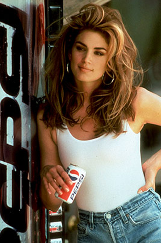 Cindy Crawford in this 1991 Pepsi ad was pretty as all American as you can get.