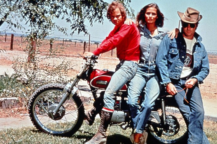 Lauren Hutton and Robert Redford in 1970's Little Fauss and Big Halsy gave us classic Americana in denim form.