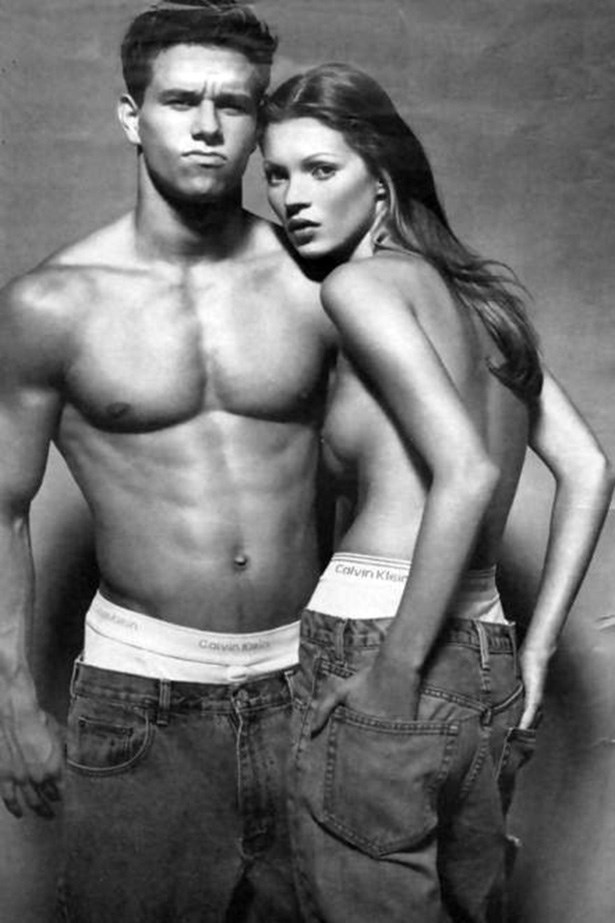 Marky Mary and Kate Moss in that iconic, seared into your memory/fashion history forever ad for Calvin Klein in 1992.