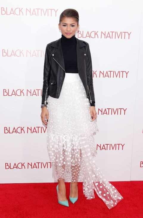 NOVEMBER 18, 2013 At the Black Nativity premiere in New York City. GETTY
