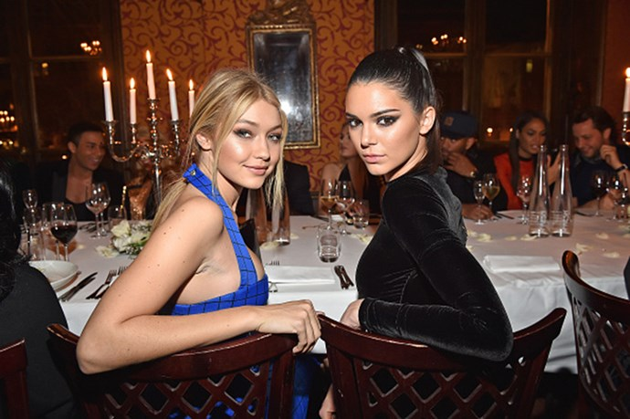 Smoky eyes, nude lips and glowing cheeks were on the menu at the Balmain AW15-16 post-show dinner in Paris.