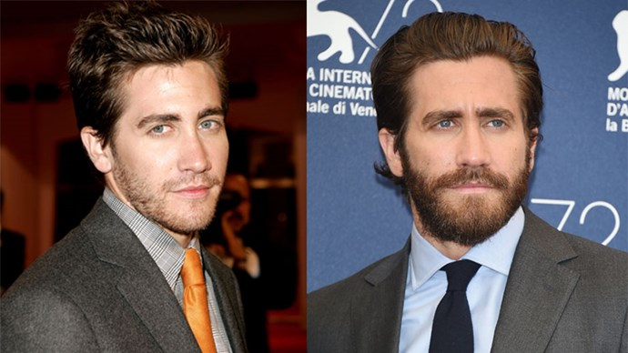 <strong>Jake Gyllenhaal</strong> <BR> <BR> <strong>Then:</strong> Jake celebrates his film <em>Brokeback Mountain</em> (2005) at the Venice Film Festival. <BR> <BR> <strong>Now:</strong> Exactly ten years later, Jake Gyllenhaal returns to the festival to promote his upcoming film <em>Everest</em>. It's based on real events of two expedition groups in 1996. P.s. Why is he still single?