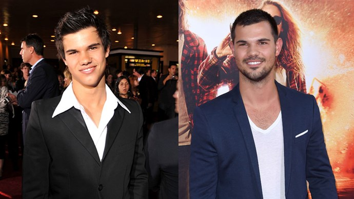 <strong>Taylor Lautner</strong> <BR> <BR> <strong>Then:</strong> Team Edward or Jacob?! An argument that stopped a generation. Taylor played the mysterious Jacob Black. Flashback to 2005, Taylor graces our screens as Sharkboy. <BR> <BR> <strong>Now:</strong> Taylor played the boyfriend of Taylor Swift in <em>Valentine's Day</em> (T squared anyone?)