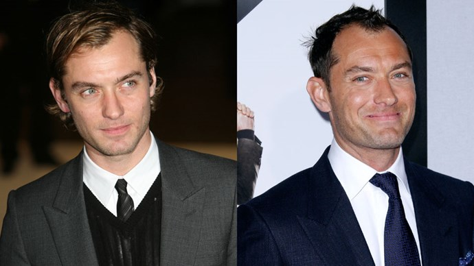 <strong>Jude Law</strong> <BR> <BR> <strong>Then:</strong> The young and wealthy Dickie Greenleaf in <em>The Talented Mr. Ripley</em> holidaying around Italy and the very beautiful single (and British) dad Graham in <em>The Holiday</em>. <BR> <BR> <strong>Now:</strong> Robert Downey Jr.'s Dr. Watson in the <em>Sherlock Holmes</em> movies and Melissa McCarthy's crush in <em>Spy</em>.