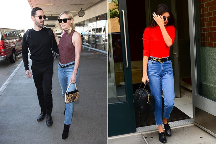<p><strong>2. Belted Mom Jeans</strong></p> <p>Make your jeans the focal point of an outfit by adding a belt and style with a tight top or bodysuit. </p>