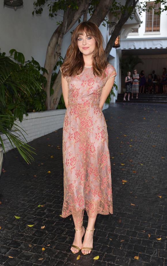 Dakota Johnson attends the 2014 CFDA/Vogue Fashion Fund Event.