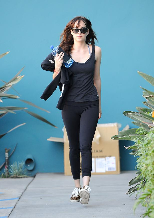 Leaving the gym in LA in Isabel Marant sneakers.