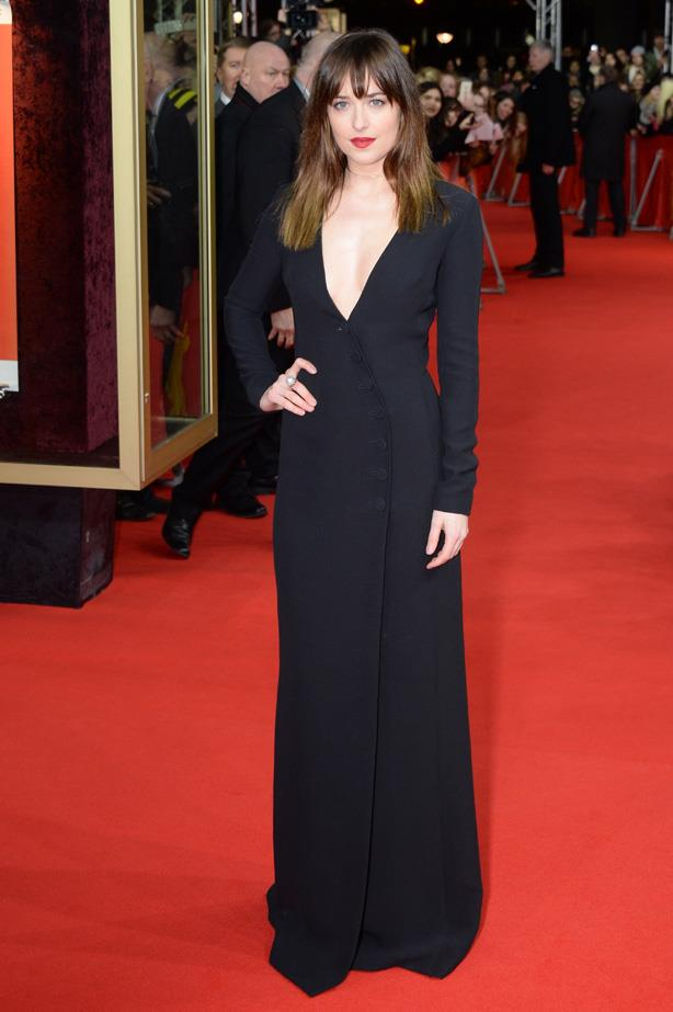 Dakota Johnson attends the 'Fifty Shades of Grey' premiere during the 65th Berlinale International Film Festival.