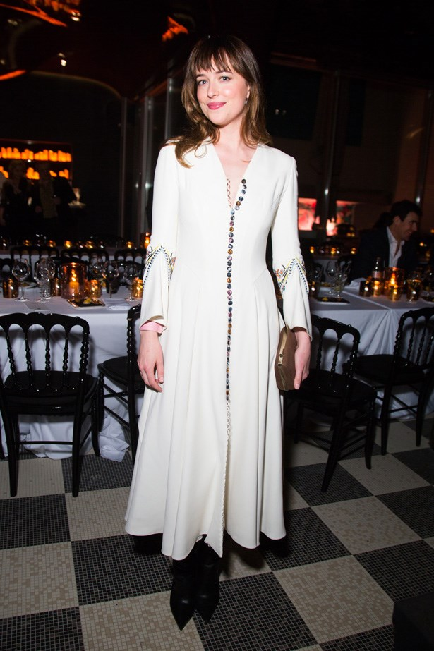 Dakota Johnson wearing Dior.
