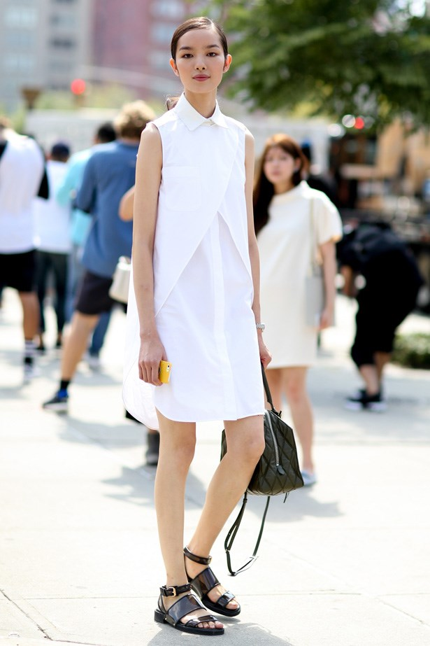 A white shirt dress is a fail-safe option for any summer occasion.