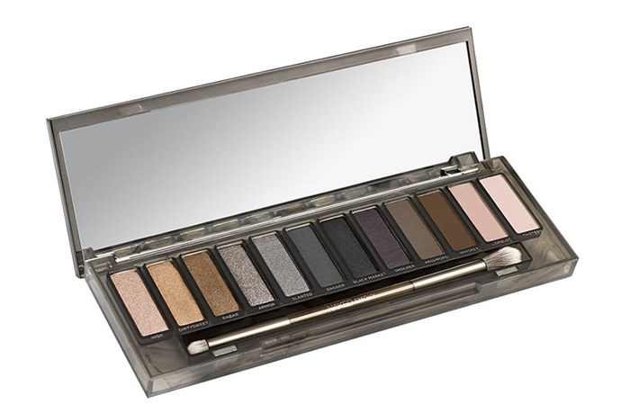 <strong>Smoked to perfection</strong> <br><br> An eye shadow palette that would even make <strong>Kim Kardashian's </strong>heart quiver, the Naked Smokey Eye shadow Palette, $78, <em>Urban Decay</em>, mecca.com.au, has something for everyone, accommodating even the biggest smoky eye noob.