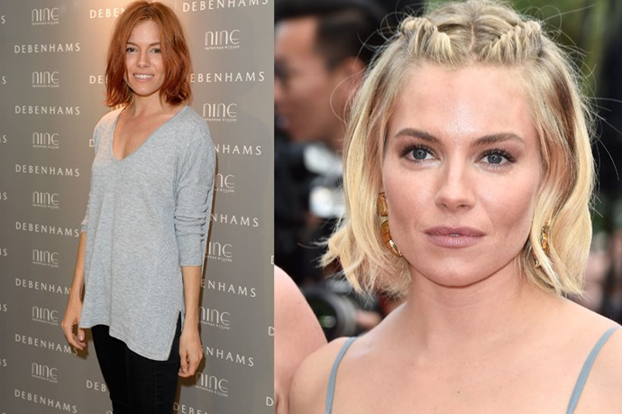 <p> <strong><p>Sienna Miller</strong></p> <p>Sienna Miller has gone va va voom red and we totally love it. Also, still crushing on the bob, majorly. </p>