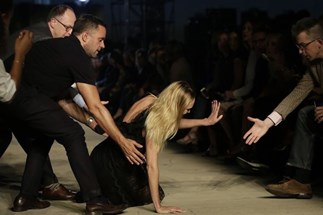 Candice Swanepoel Stacks It At Givenchy Show