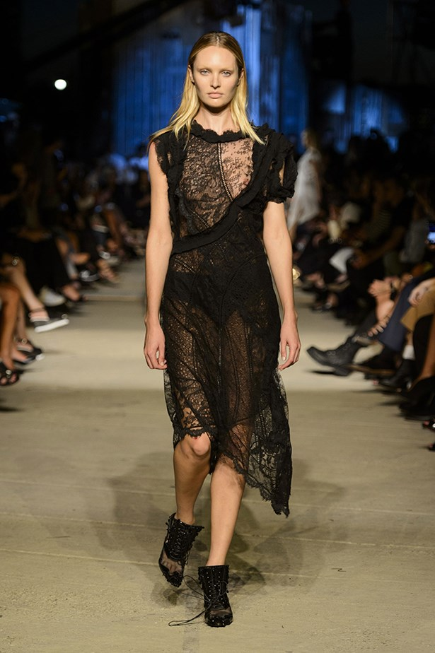 After her runway stumble, Candice Swanepoel proves that when Givenchy girls fall, they pick themselves back up and carry on with head held high and a sexy, boot-clad swagger.