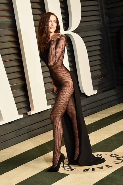 Irina Shayk dared to bare (everything).
