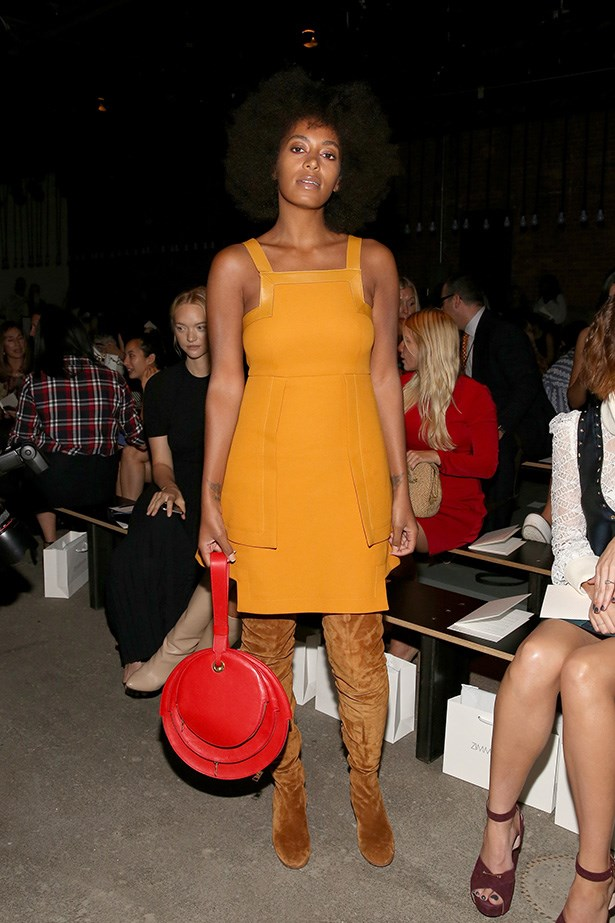 Solange touches on the 70s trend that is still going strong (as it should be!) at New York Fashion Week.