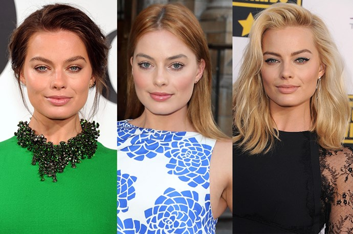 Australian princess and national treasure Margot Robbie tried her hand at red a few months back (totally nailing it), before returning to her bombshell blonde.