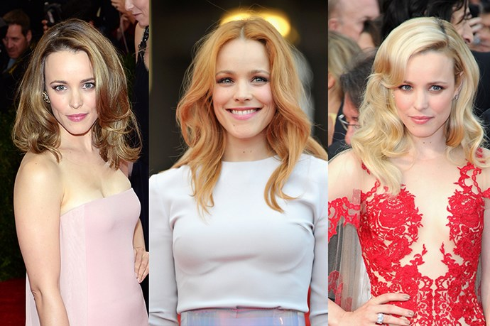 Rachel McAdams has obviously spent her fair share of time in the hair salon. She has gone from long to short, waves to buzz cuts, and, of course, blonde to red to brown.