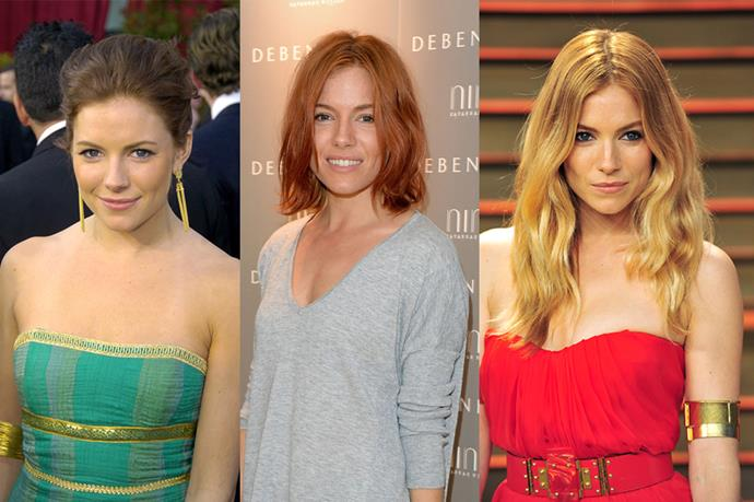 **Sienna Miller**<br><br>  Having gone red, Sienna Miller has entered into the exclusive #Trifecta club.