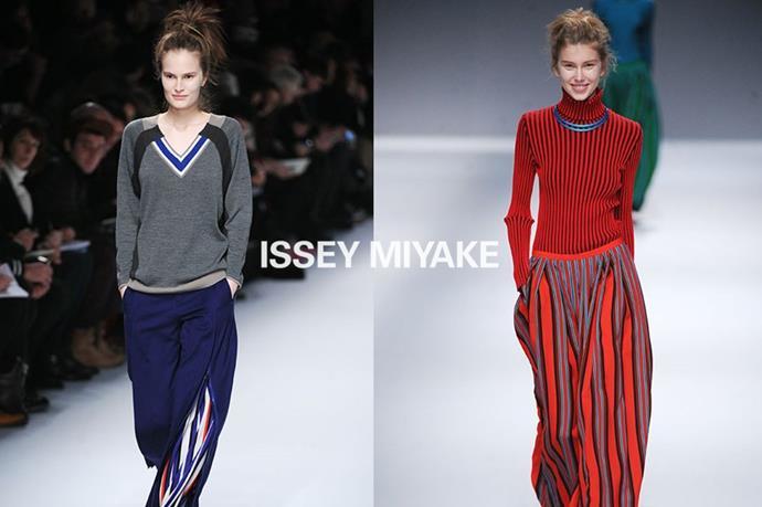 Issey Miyake – <em>ee-say me-yah-keh </em>