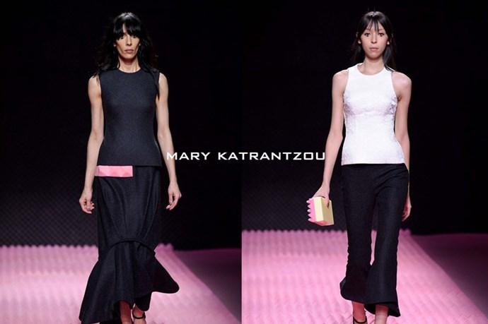 Mary Katrantzou – <em>mare-ree- kaht-trahn-tzoo </em>