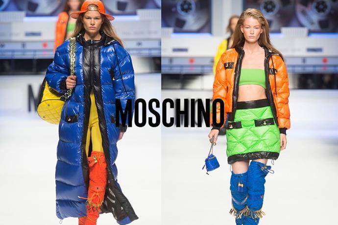 Moschino – <em>mohs-kee-noh</em>