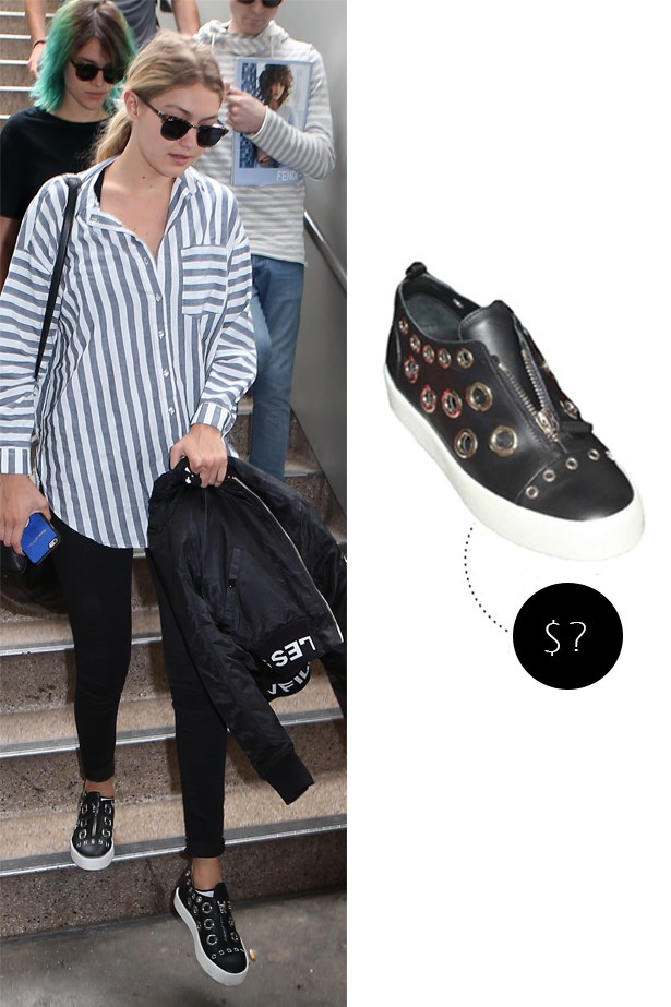 "<strong><a href=""https://www.ssense.com/en-us/women/designers/giuseppe-zanotti?gclid=CMmzh_Cs_ccCFVWSvQodQggHXA"">Giuseppe Zanotti Franz sneaker</a></strong> (from unreleased resort collection)"